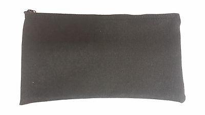 1 Brand New Heavy Black Canvas Bank Deposit Money Bag Zippered