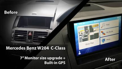 "Mercedes Benz W204 C-Class 07-10 7"" GPS Monitor + Rear Camera Brunswick Moreland Area Preview"