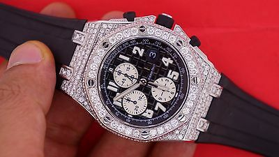 Unworn Audemars Piguet Royal Oak Offshore Custom 12 Ct Diamond Watch Video !!!