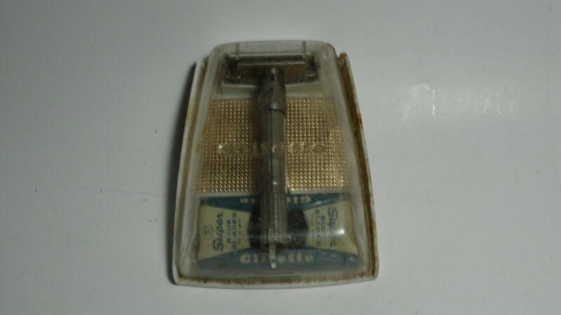 Vintage Gillette Slim Boy razor H3 with original case