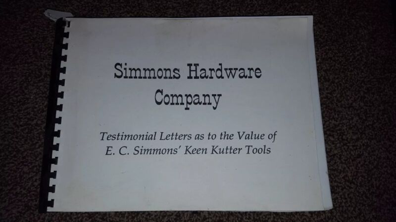 Simmons Hardware Company, Keen Kutter Reprinted In 1995