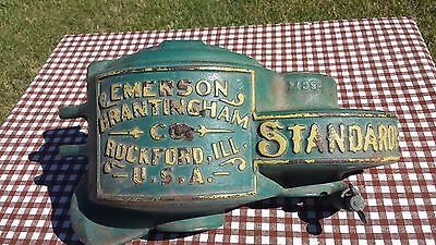Antique Emerson Brantingham Cast Iron Cover Steam Engine Tractor Farm Equipment