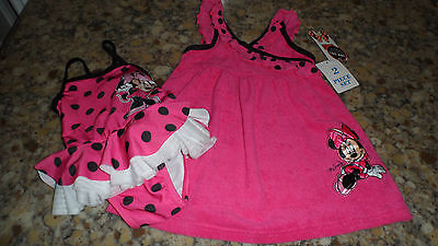 Disney Minnie Mouse Pink/Black Swimwear Tutu Bathing Suit Coverup Size 18 Mo. - Pink And Black Minnie Mouse Tutu