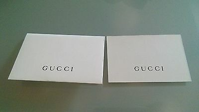 2 piece New Gucci authenticity certificate card ship from New York NO - 2 Piece Envelope