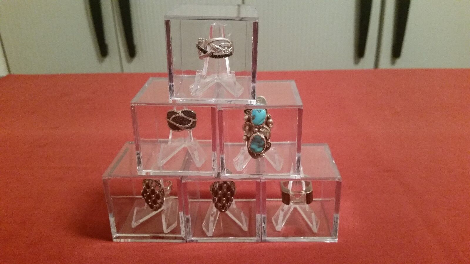 ~#College High School Championship Ring Display Case Box Cle