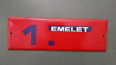 Old vintage enamel sign 1 emelet first floor hungary