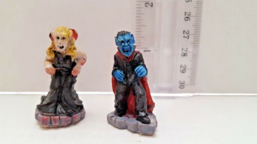 "Vampire Count Dracula Halloween Figurine Statue 1.5"" Tall (Lot of 2)"