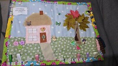 Fidget fun sensory activity large blanket quilt COUNTRY COTTAGE fabrics