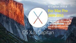 Hard Drive for Mac Pro 250GB. 2008-2012 3,1- 5,1.Preloaded with El Capitan 10.11