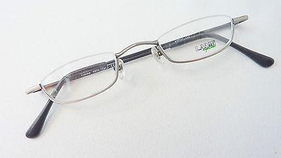 Lanig kleine Unisex Halbbrille Lesebrille ohne Gläser silber oben randlos Gr. S