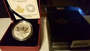 Ten Dollar Pure Silver Coin 150 years of Canada - Maples Leaves