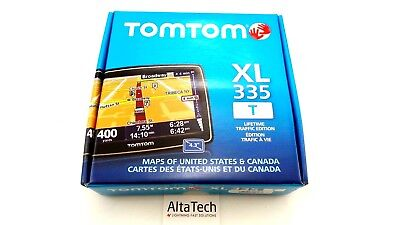 "New TomTom XL 335T 4.3"" Touchscreen GPS Unit - US & CA - Lifetime Traffic"