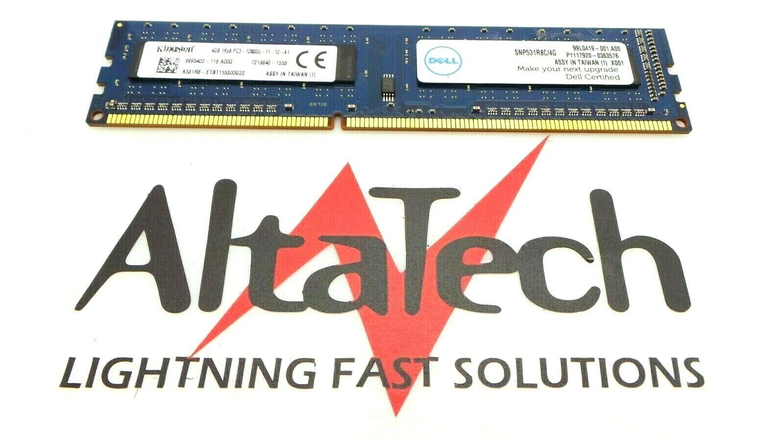SNPVR648C//8G Dell VR648 8GB PC3L-12800U DDR3-1600 2RX8 N-ECC RAM Memory