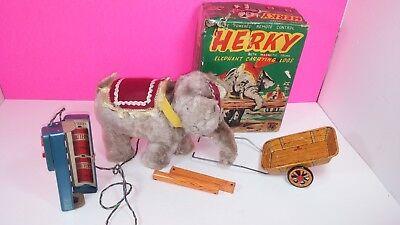 Alps Herky Elephant Remote Control Japan 1950's Rosko Steele Vintage Tin Toy