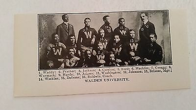 Walden University Negro Leagues Colored College 1902 Football Team Picture  Rare