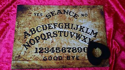 Wooden Ouija Board Seance Magic Old London Thames & Planchett spirit ghost hunt