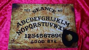 Wooden Magic Old London Thames Seance Ouija Board & Planchett spirit ghost hunt