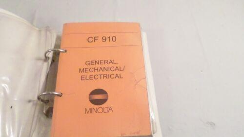 Vintage Minolta CF 910 Service Manual 1154-7990-11