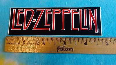 Led Zeppelin Black & Red Logo 4.75 Inch Sticker