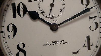 C.LORENZ AKTIENGESELLSCHAFT  8 Tage Uhr Vorkrieg Militär ? Oldtimer Uhr ?  RAR !