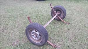 BOX TRAILER WHEELS TYRES AXLE HUBS AND SPRINGS 4X114.3 RIMS Kallangur Pine Rivers Area Preview