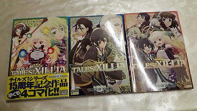 * Tales of Xillia Manga Doujinshi Comics Anthologie Band 1-3 Set jap. Top* Japan