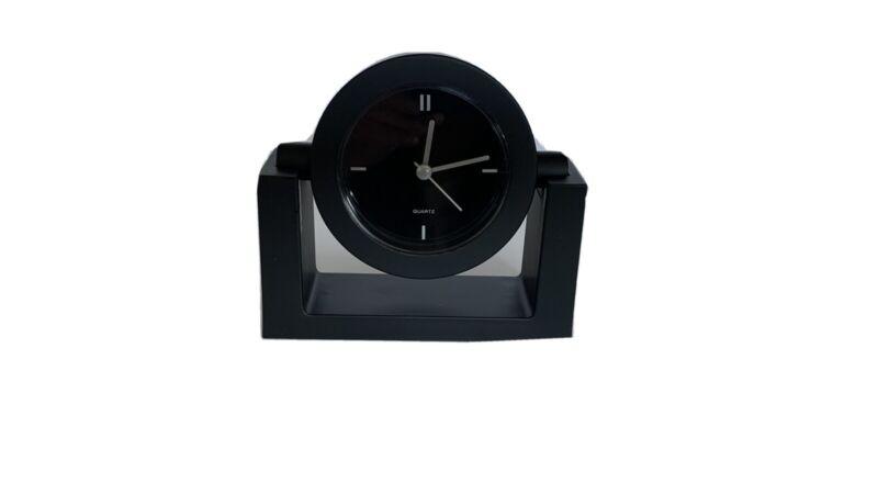 Black Tiltable Quartz Desk Clock New in Box