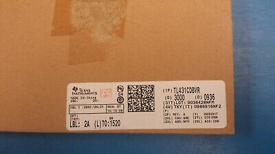 3000 Tl431cdbvr V-ref Adjustable 2.495v To 36v 100ma 5-pin Sot-23 Rohs 0936dc