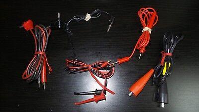 Needle Tipped Tip Test Leads Set For Fluke Multimeter Lot Of Clips Test Meter