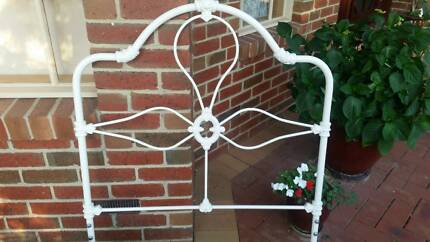 Two wrought iron single size bed frames