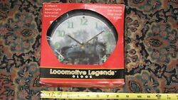 Locomotive Legends Steam Engine Train Sound Wall Clock by Mark Feldstein (LOT#E1