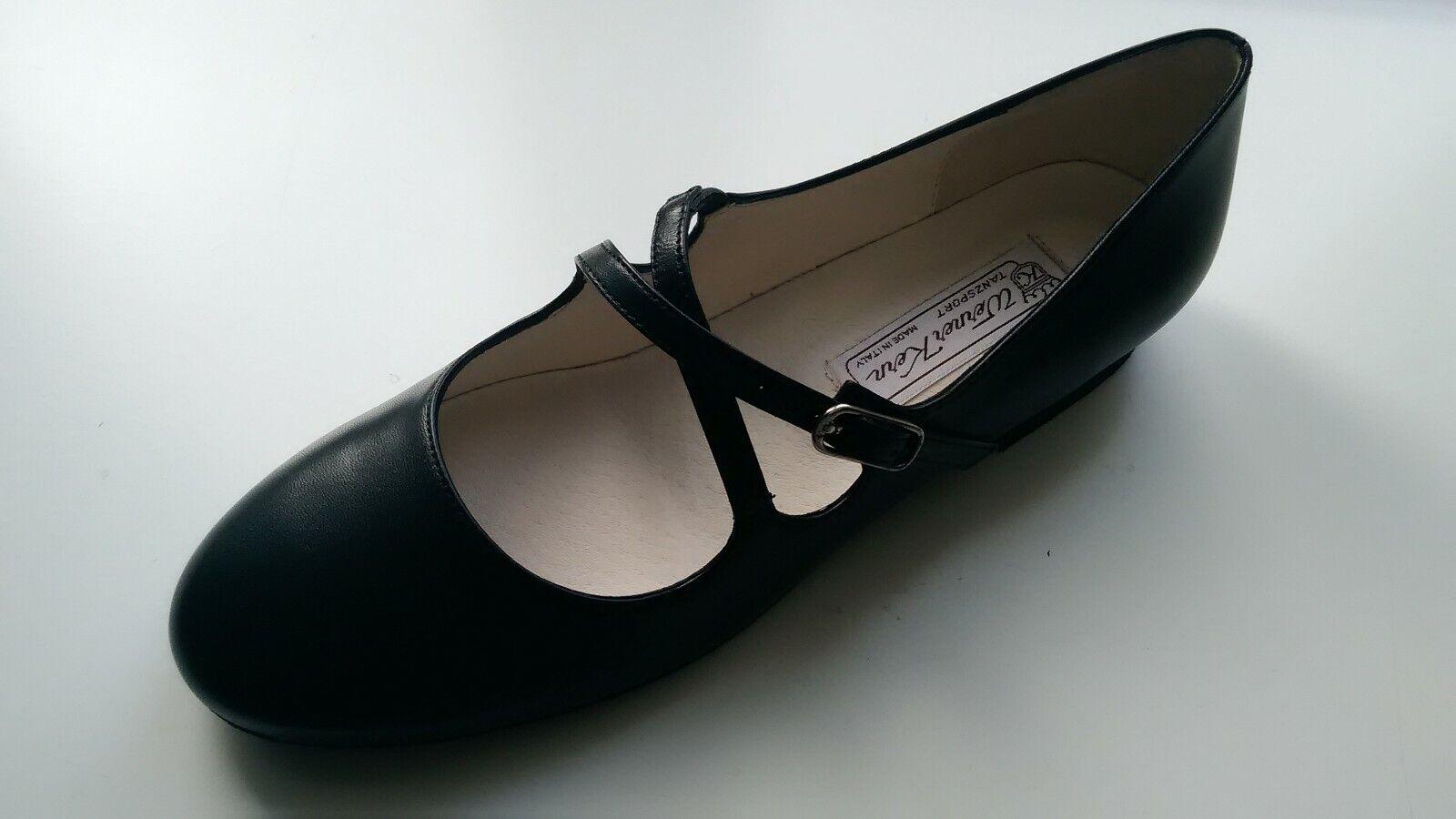 Werner Kern Damen-Tanzschuhe Mischa Gr. 6 Leder schwarz 1,5 cm Micro Heel