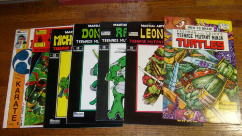 SOLSON PUBLICATIONS: 7 TEENAGE MUTANT NINJA TURTLES COMICS / MANUALS, nice