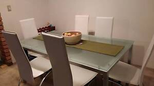 frosted glass dining table (chairs not included) Centennial Park Eastern Suburbs Preview