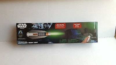 Star Wars Lightsaber Wall Mounted Room Light w/Remote Luke Skywalker  (Star Wars Lightsaber Room Light)