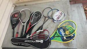Assorted Rackets