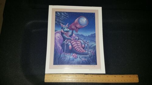 """1999 RANDALL SPANGLER PRINT SIGNED AND NUMBERED 94/500 """"STAR GAZING"""" TELESCOPE"""