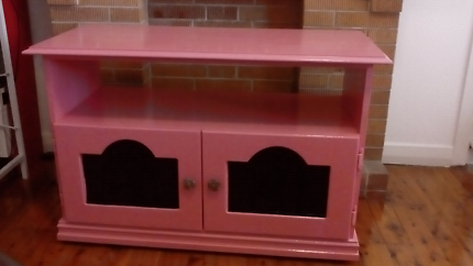 FREE Bright pink for girls room. TV STAND ON WHEELS. Light weight