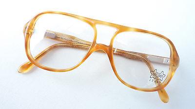Brille für Jungen Nerd Vintagebrille honig braun Pilotform stabil Federbügel