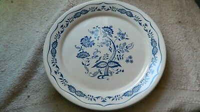 CORELLE BLUE FLORAL LUNCH PLATES 8.5 INCH SET OF 4 GENTLY USED FREE USA SHIP Blue Floral Lunch Plate
