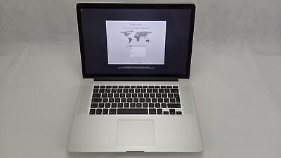 "Apple MacBook Pro 15.4"" 2015 A1398 Intel i7 2.2GHz 256GB SSD 16GB Ram Silver"