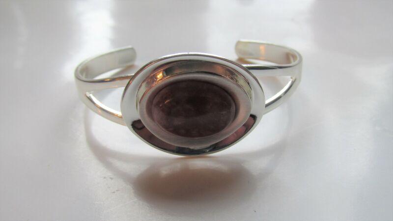 GENUINE Cork Red Marble Silver Plate Copper Bangle Guaranteed Irish
