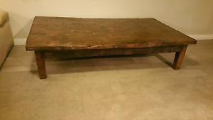 Rustic Solid Wood Coffee Table Claremont Nedlands Area Preview