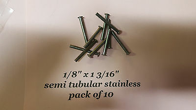 10 Pack Of Semi Tubular Stainless Rivets 18 X 1 316 Antique Slot Machine D
