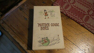 Antique Children's STATIONERY, MOTHER GOOSE NOTES, Boxed - Children's Stationery
