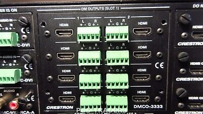 Crestron DMCO-3333 8 HDMI w/8 Stereo Analog Audio Output Card  FROM: DM-MD16X16