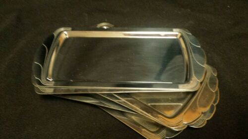 Deco Vintage Retro Chrome Stainless Manning Bowman Small Serving Receipt Tray