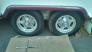 6 stud alloy caravan/trailer wheels and light truck tyres Yinnar Latrobe Valley Preview
