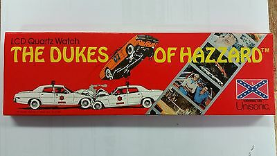 THE DUKES OF HAZZARD CLASSIC TV SHOW VINTAGE LCD QUARTZ WRIST WATCH BOXED 1981