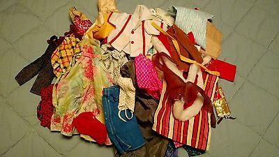 LOT OF 61 PIECES VINTAGE BARBIE CLOTHES